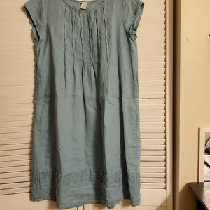 Knee length linen dress